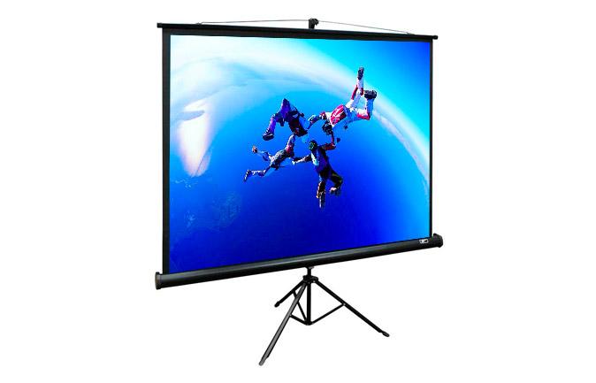 pantalla proyector con tripode