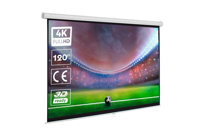 pantallas para proyectores cine en casa manual